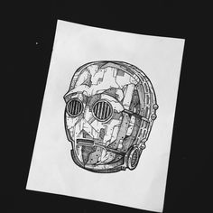#c3po #starwars #blackink #drawing #art