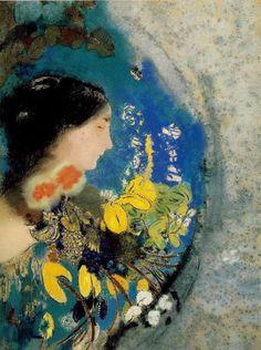 Ophelia, c. 1900-1905  by Odilon Redon
