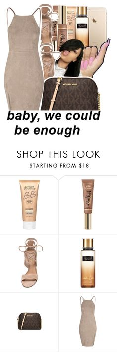 """""""💁girls nightout contest💁"""" by geazybxtch24 ❤ liked on Polyvore featuring Miracle Skin Transformer, Gianvito Rossi, Victoria's Secret, Michael Kors and Glamorous"""