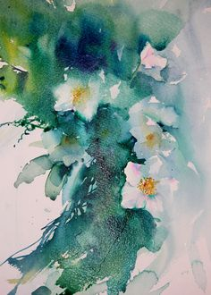 Watercolours With Life: Christmas Roses and Ivy in Watercolour 2015