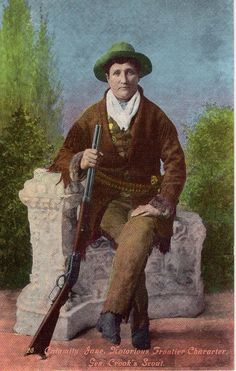 Calamity Jane - the Notorious Frontier Character - She was a scout for General Crook in the 1880s.  The card is unused. Believe it is a