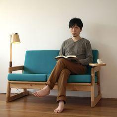 ほんとソファ/木製のフレームソファ・二人掛け | take-g | テイクジー | 木のおもちゃ・木の家具