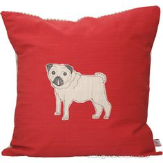 Poppy Treffry Pug Dog Cushion Cover