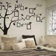 Black Photo Tree Removable Wallpaper-4.69 @gearbest