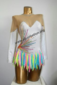 I'm not a rhythmic gymnast, but this is really pretty Dance Outfits, Dance Dresses, Sexy Outfits, Dance Leotards, Gymnastics Leotards, Rainbow Costumes, Skate Wear, Figure Skating Dresses, Dance Costumes