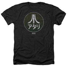 Atari Japanese Grid Heather Soft Fit T-Shirt