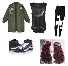 """""""Sans titre #286"""" by stylesforstars ❤ liked on Polyvore featuring WithChic and Vans"""