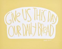 Custom Wood Sign - Give Us This Day Our Daily Bread - Hand Painted Typography Word Art Kitchen Wall Decor Kitchen Signs, Kitchen Art, Kitchen Decor, Kitchen Interior, Kitchen Ideas, Custom Wood Signs, Custom Vinyl, Our Daily Bread, Typography