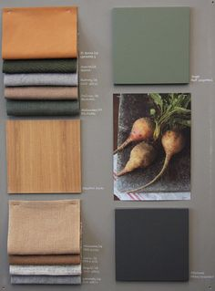 A moodboard is always an inspiration to interior design! Mood Board Interior, Interior Design Boards, Colour Pallete, Colour Schemes, Material Color Palette, Color Trends, Color Combos, Pantone Cards, Home Design