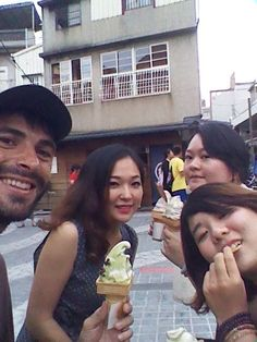 Ice cream in Taiwan. One of my favorite food in Asia. I was hitchhiking the whole country!!  Traveling Taiwan - The $10 Travel Guide - Gamin Traveler
