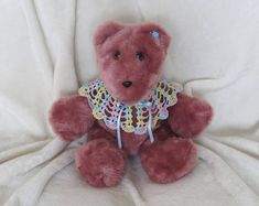 Browse unique items from DaisyMayDreams on Etsy, a global marketplace of handmade, vintage and creative goods. Bear Girl, Buy Fabric, Baby Girl Gifts, Hand Crochet, First Love, Wedding Gifts, Great Gifts, Baby Shower, Toys