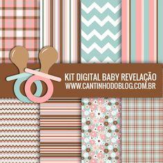 KIT DIGITAL BABY REVELAÇÃO GRÁTIS PARA BAIXAR - Cantinho do blog