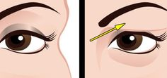 Use Egg White to Treat With Drooping Eyelids!Drooping eyelids can worsen a person's appearance. Loose skin will make it difficult for a person to apply eye makeup. This type of skin tends to make. Droopy Eye Makeup, Droopy Eyes, Hooded Eye Makeup, Hooded Eyes, Makeup Eyes, Saggy Eyelids, Drooping Eyelids, Leiden, Applying Eye Makeup