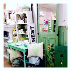 Our Springy booth at Antiques of Winfield ! - Jen's Fresh Vintage !
