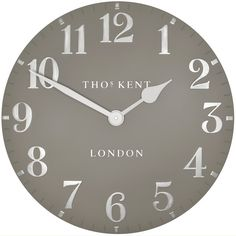 Thomas Kent Arabic Clock Cool Mink - 20 inch - Dress your walls to impress with this stunning large grey clock from Thomas Kent Clocks! No-one can doubt that the Thomas Kent Arabic Clock Cool Mink - 20 inch is a beautiful creation, which is guaranteed to wow your guests! In a smooth hand-painted grey surface, complemented with sleek silver numbers and stylised hands, this elegant timekeeper is a welcome addition to Thomas Kent's Arabic collection. Perfect for a neutral room which is ...