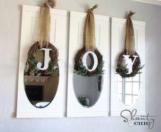# DIY Joy kransen voor # Kerstmis op iheartnaptime.net door Shanty2Chic