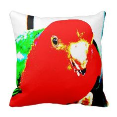 Australian Male King Parrot Pillow - Australian Wildlife.  Click on photo to view item then click on item to see how to purchase that item.