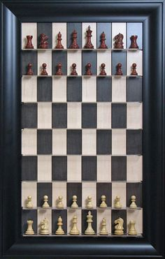 Vertical chess board. What fun for a game room!