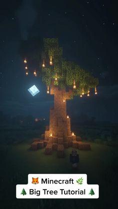 Minecraft Tree, Minecraft Farm, Minecraft Cottage, Cute Minecraft Houses, Minecraft Plans, Minecraft Construction, Minecraft Blueprints, Minecraft Creations, Minecraft Crafts