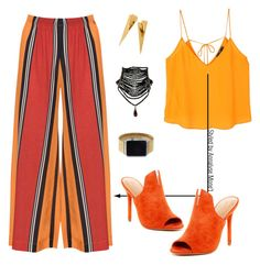 """""""orange you glad. .  ."""" by vettinalyse on Polyvore featuring Mat, MANGO, Halston Heritage and Rilee & Lo"""