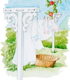 Fråga: Har ni något förslag på en torkställning som är snygg nog att pryda sin plats i trädgården?