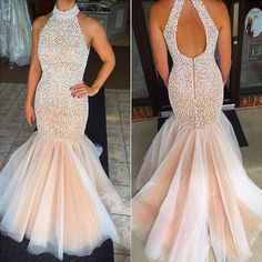Champagne prom dresses,mermaid prom gowns,tulle prom dresses,beading prom dresses,mermaid prom gown,2016 prom dress,pd160055  #weddingdress#fashion#shopping#promdress#eveningdress#cocktaildress
