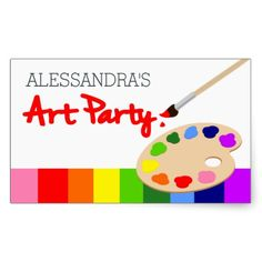 Get your hands on great customizable Paint Party stickers from Zazzle.