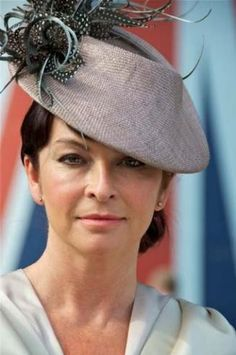 A hat for Ladys day at the races. A lovely 1940s perching hat trimmed with a flurry of spotted and silver feathers.  Jane Taylor Millinery.  Suzi Perry wore this piece in 2012 at Ascot Day