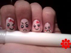 emoticon nails