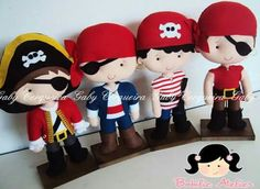Cute stuffed pirates