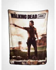 Party points to ME! I just found the The Walking Dead Rick Grimes Fleece Blanket from Spencer's. Visit their mobile website to get this item and more like it.