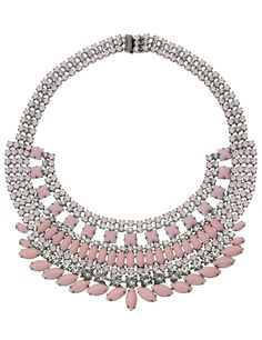 Pink Neopolitano Necklace by Tom Binns Layered Chain Necklace, Strand Necklace, Pink Necklace, Crystal Necklace, Kms California, Tom Binns, Luxury Jewelry, Jewelry Necklaces, Jewellery