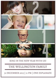 Personalize your own New Year cards with Photobook Worldwide! #newyear #2014 #cards