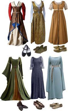 Blaues Kleid unten Mitte