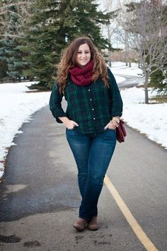 Plus Size Winter Outfits-14 Chic Winter style for Curvy Women - some very easily looks to imitate..