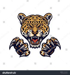 jaguars and claws illustrations using a hand drawing style\ncontinued with digital coloring, this is a combination of hand drawing style and digital color\n , Jaguar, Illustrations, Claws, Body Art, How To Draw Hands, Royalty Free Stock Photos, Drawing Style, Drawings, Coloring