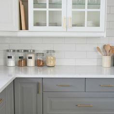 New Gold Hardware Kitchen Cabinets