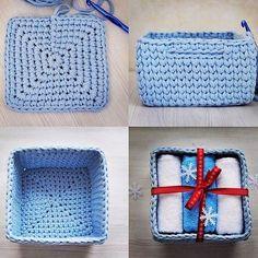 Catch Cute & Simple Designs of Crochet for Beginners - Diy Crafty Crochet Basket Tutorial, Crochet Basket Pattern, Granny Square Crochet Pattern, Easy Crochet Patterns, Crochet Designs, Crochet Stitches, Crochet Granny, Crochet Bowl, Crochet Round