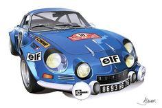 Renault Alpine A110. More