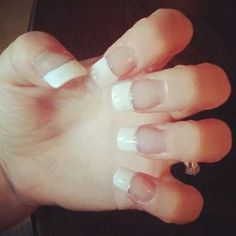 White tips Manicure, Nails, Painting, French, Beauty, Nail Bar, Finger Nails, Ongles, French Language