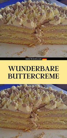 Zutaten  250 g butter (süßrahm) 400 ml milch Cupcake Torte, Dairy Free Chocolate Cake, Cereal, Deserts, Dishes, Baking, Breakfast, Pantomime, Food