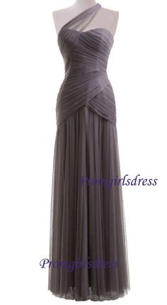 Bridesmaid Dress Long Bridesmaid Dress Grey by Promgirlsdress, $109.00