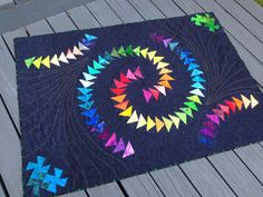 hot pink quilts: Fava's Rainbow Quilt.