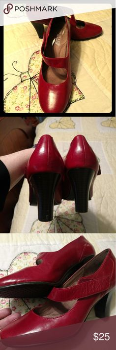 Deep Red Aerosoles Heelrest 2 inch heels Lush red pumps I have only worn twice. I am only parting with them because they were a little tall for me.  So comfortable and practically new. One tiny scuff on the heel that can probably be easily fixed. Size 8. AEROSOLES Shoes Heels