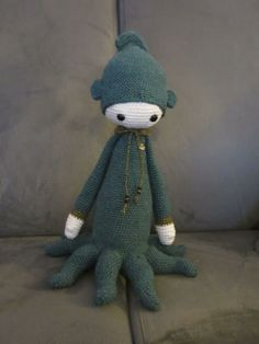 OLEG the octopus made by Julie D. / crochet pattern by lalylala