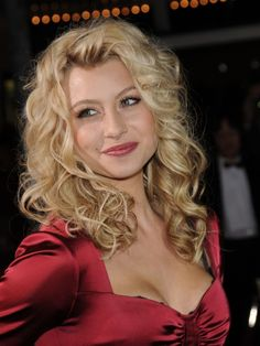 Alyson Michalkas long curly hairstyle