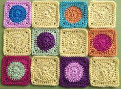 Elealinda Design: Tutorial: Mini Granny Square - wool leftovers