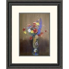 Global Gallery 'Vase of Flowers from a Field' by Odilon Redon Framed Painting Print Size: