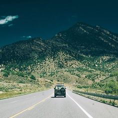 Somewhere in the middle of Colorado following this beautiful Synchro VW bus.