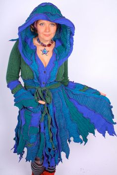 TUTORIAL  Pixie Coat made from Recycled Sweater  FOrest by katwise, $9.00